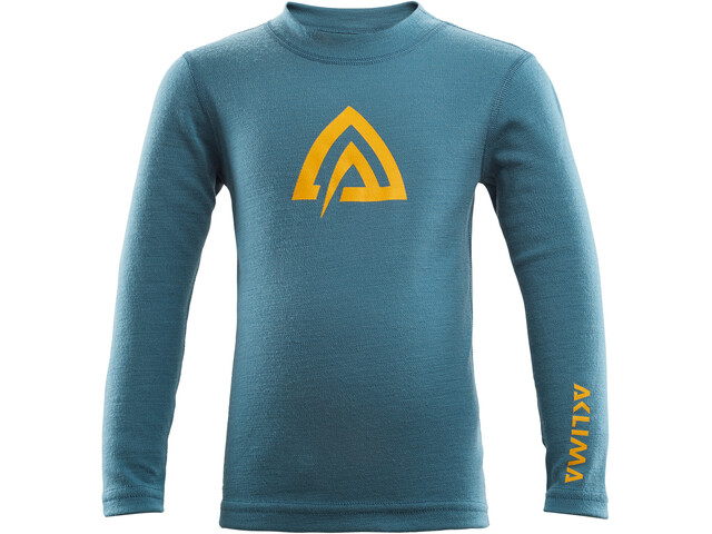 Aclima WarmWool Crew Neck Top Kids tapestry/olive night